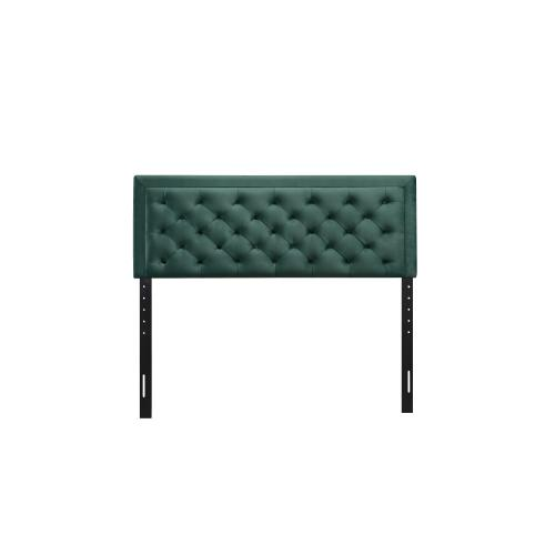 Emerald Home Full 4/6 Upholstered Headboard Emerald Green #501 B219-09hb-08