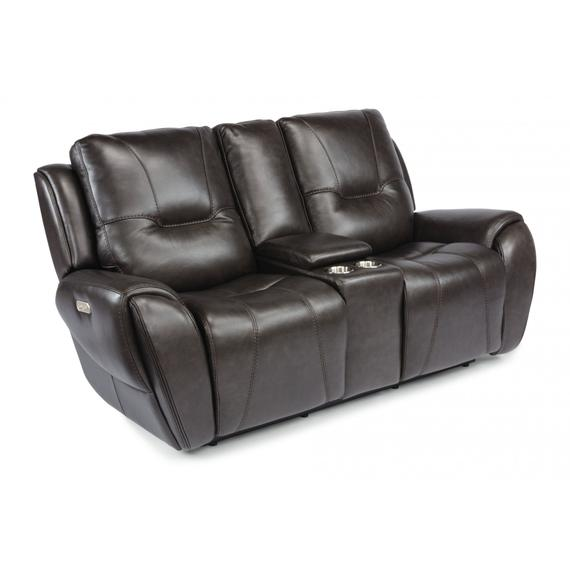 Trip Power Reclining Loveseat with Console & Power Headrests