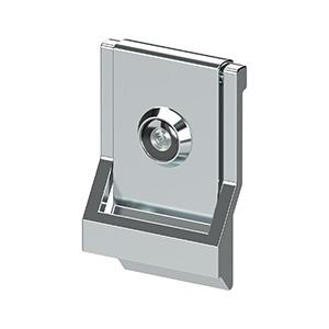 Deltana - Modern Door Knocker, UL Listed Viewer, Solid Brass - Polished Chrome