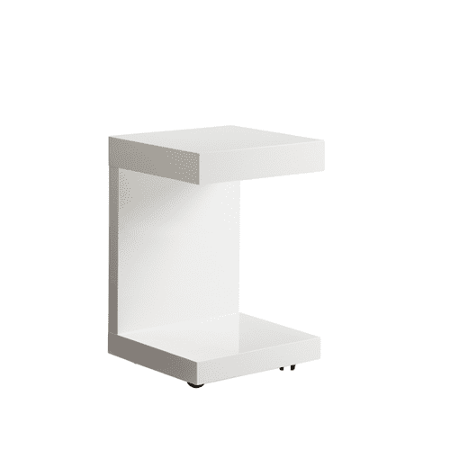 Bachelor TV Table With Drawer White
