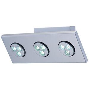 LED 3-lite Wall Lamp, Silver, (1wx3)*3 Sets