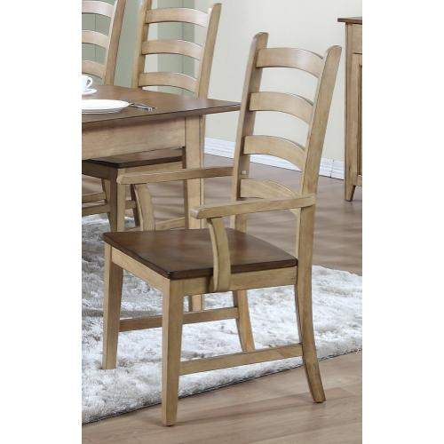 Ladder Back Dining Arm Chair (Set of 2)