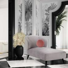 View Product - Maliah Pleated Grey Velvet Settee