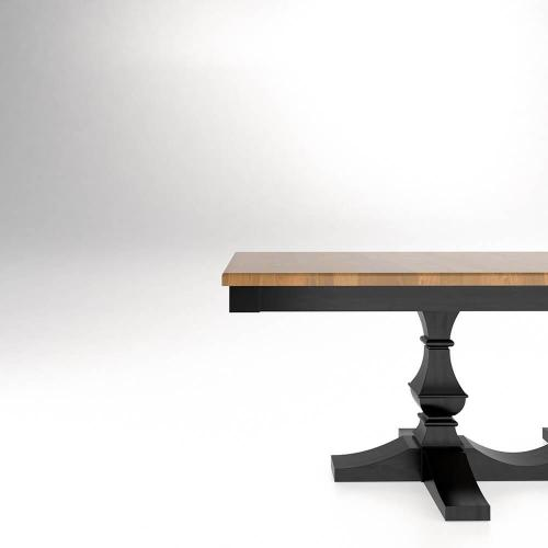 Canadel - Rectangular thick top table