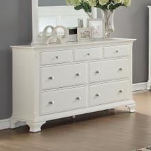 Laveno 012 White Wood 7-Drawer Dresser