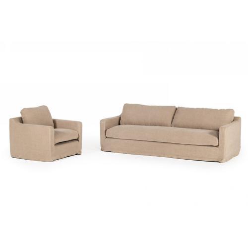 Divani Casa Admiral - Modern Classic Sand Fabric Sofa