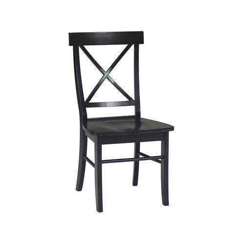 X-Back Chair inAlmond & Espresso