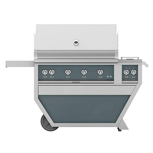 "42"" Hestan Outdoor Deluxe Grill with Double Side Burner - G_BR__CX_ Series - Pacific-fog"