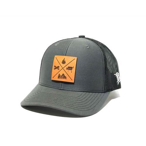 Green Mountain Grills - GMG Dark Grey Trucker Hat w/ Leather Patch