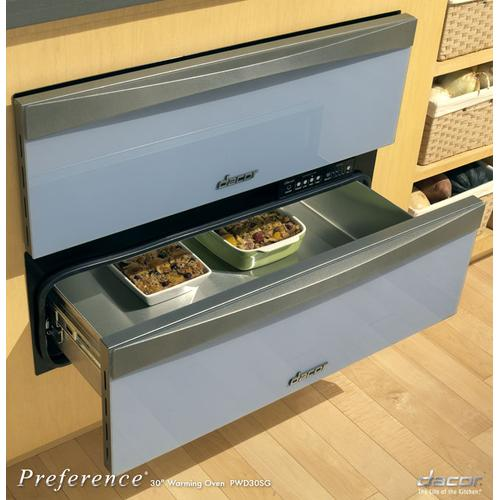 """Preference 30"""" Warming Drawer, with Glass Front Panel in Blue Water"""