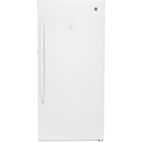 GE 14.1 Cu. Ft. Frost Free Upright Freezer White FUF14DLRWW