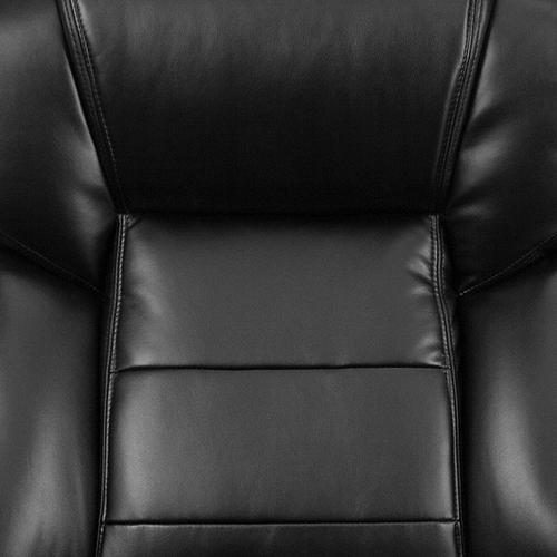 Gallery - Big & Tall Office Chair  Black LeatherSoft Swivel Executive Desk Chair with Wheels