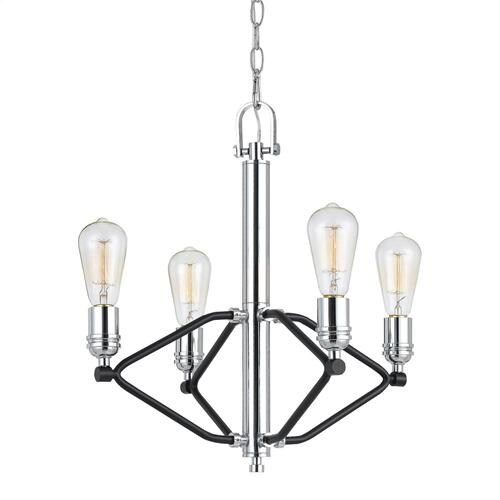 60W X 4 George 4 Light Metal Chandlelier (Edison Bulbs Not included)