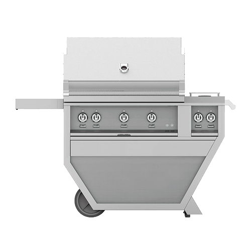 """Hestan - 36"""" Hestan Outdoor Deluxe Grill with Double Side Burner - G_BR__CX_ Series - Prince"""