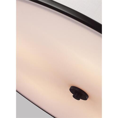 Lennon Large Semi-Flush Mount Satin Nickel