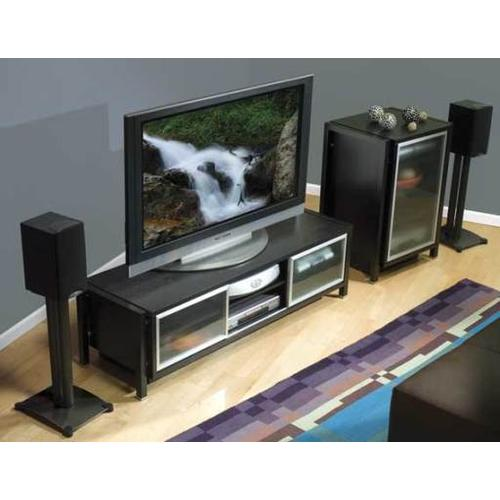 Product Image - Black Steel Series 30 inches tall for small bookshelf speakers