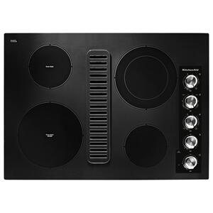 "KitchenAid30"" Electric Downdraft Cooktop with 4 Elements - Black"