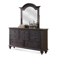See Details - Bellagio Eight Drawer Dresser Weathered Worn Black finish