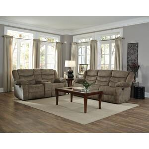Ridgecrest Manual Motion Reclining Upholstered Sofa, Tan