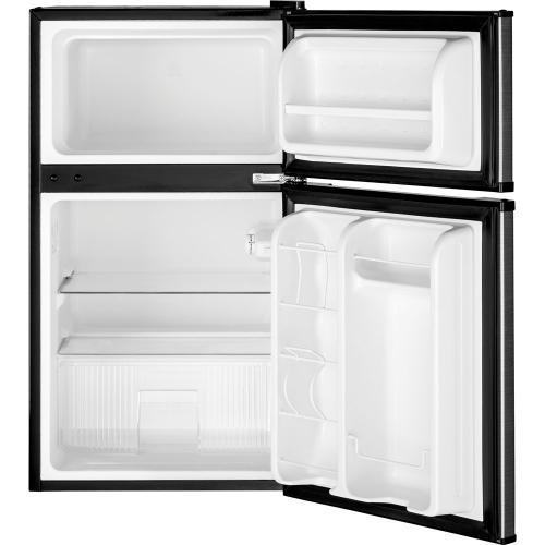 GE 3.1 Cu. Ft. Double Door Compact Refrigerator Stainless Steel GDE03GLKLB