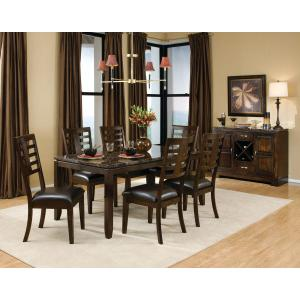 Standard Furniture - Bella 2-Pack Side Chairs, Cherry Brown