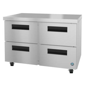 HoshizakiUF48A-D4, Freezer, Two Section Undercounter, Stainless Drawers