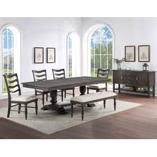 Hutchins 6-Piece Dining Set (Table, 4 Side Chairs & Bench)