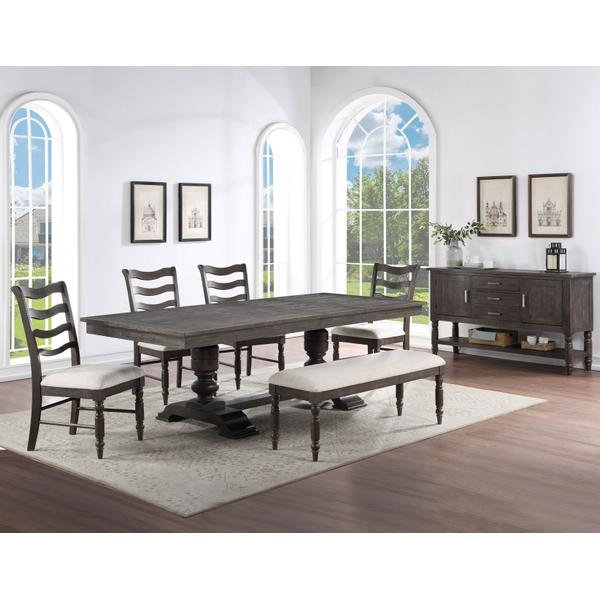 See Details - Hutchins 6-Piece Dining Set (Table, 4 Side Chairs & Bench)