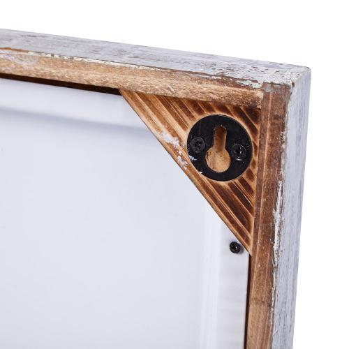 Ghufran Framed Metal Tile Wall Decor - Ast 2