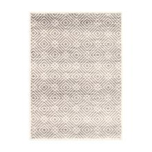 Avilla - Aged Diamonds Area Rug, Beige and Gray, 5' x 7'