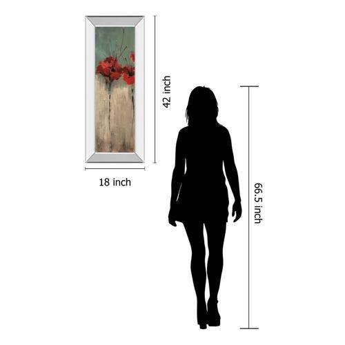 "Classy Art - ""Scarlett Garden Il"" By Luis Solis Mirror Framed Print Wall Art"