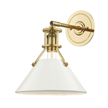 Wall Sconce - AGED BRASS/OFF WHITE
