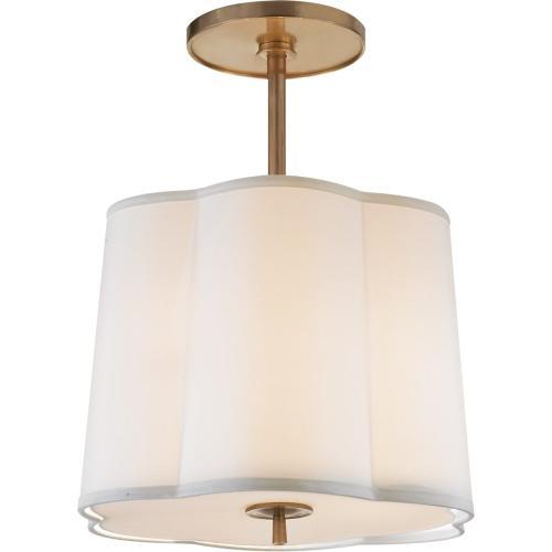 Visual Comfort BBL5016SB-S Barbara Barry Simple 3 Light 16 inch Soft Brass Hanging Shade Ceiling Light
