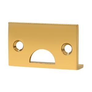 Deltana - Angle Strike, Solid Brass - PVD Polished Brass