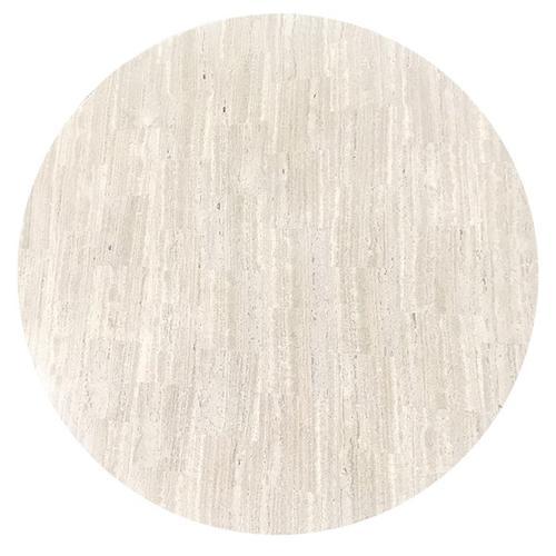 """White Travertine 48"""" Round White Travertine Top, 48"""" Round TRA-48"""