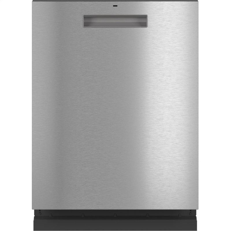Stainless Steel Interior Dishwasher with Sanitize and Ultra Wash & Dry in Platinum Glass