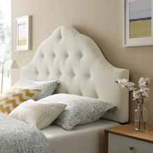 View Product - Sovereign King Upholstered Fabric Headboard in Ivory