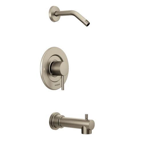 Align brushed nickel moentrol® tub/shower