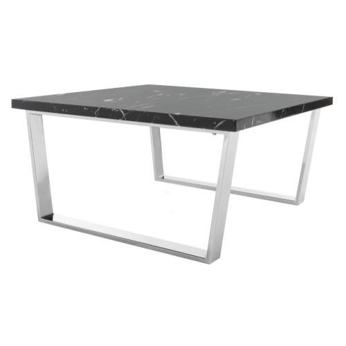 Safavieh - Carmen Square Coffee Table - Black Marble / Chrome