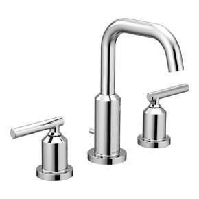 Gibson chrome two-handle bathroom faucet