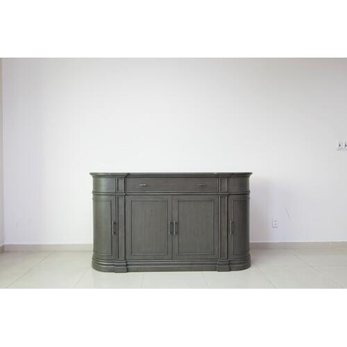 Hawthorne Estate Grey Wash Curved Credenza