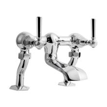 Waldorf Metal Lever Exposed Two Handle Tub Faucet - Polished Nickel