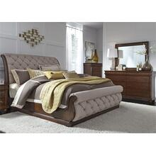 Alt Queen Sleigh Bed, Dresser & Mirror, Chest