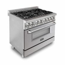 ZLINE 36 in. Professional Dual Fuel Range with DuraSnow® Finish Door (RA-SN-36)