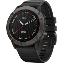 f nix® 6X Sapphire Multisport GPS Watch (Carbon Gray DLC with Black Band)