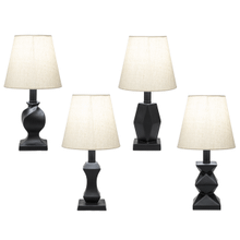 Black Contemporary Accent Lamp. 40W Max. (4 pc. ppk.)