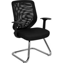 View Product - Black Mesh Back Office Side Chair with Mesh Fabric Seat