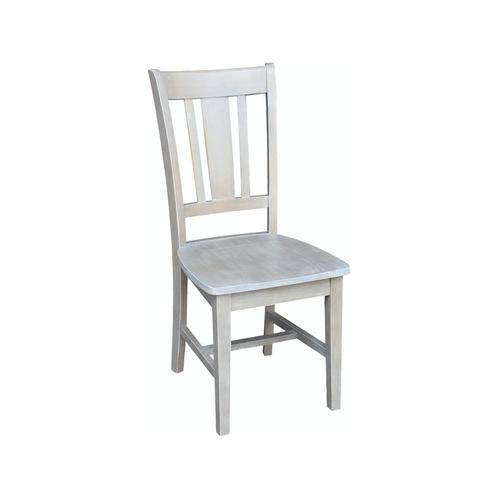 San Remo Desk Chair in Taupe Gray