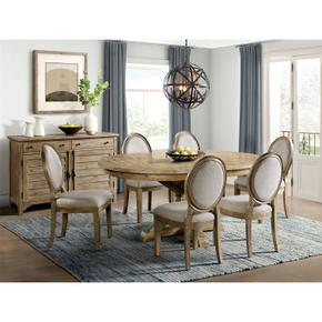 Sonora - Round Dining Table Base - Snowy Desert Finish