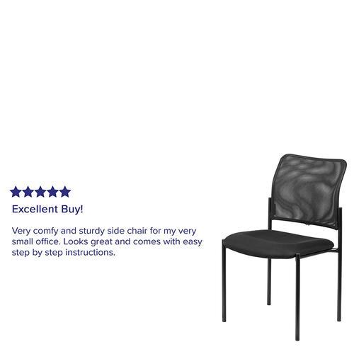 Gallery - Comfort Black Mesh Stackable Steel Side Chair